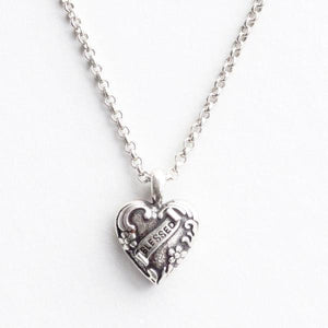 Blessed Story Heart Necklace
