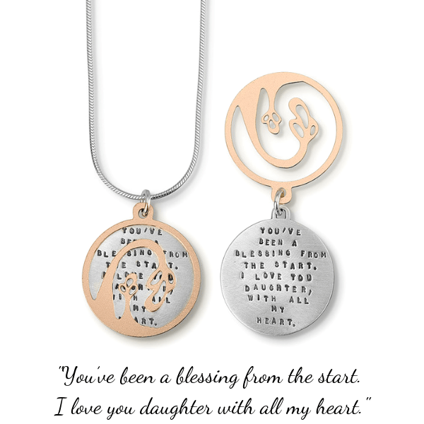 Blessing Daughter Sterling Silver Necklace | Kathy Bransfield