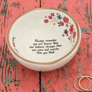 Natural Life Braver Than You Believe Ring Dish | Jewelry Trinket Bowl