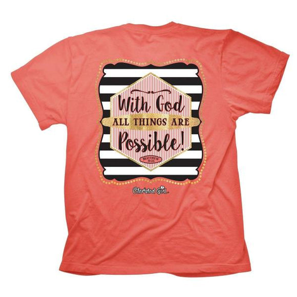 Cherished Girl Christian T-Shirt | With God All Things Are Possible