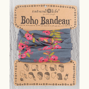 Charcoal Blooms Boho Bandeau | Natural Life