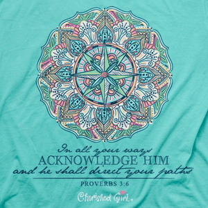 Cherished Girl Christian Shirt | Compass | Proverbs 3:6