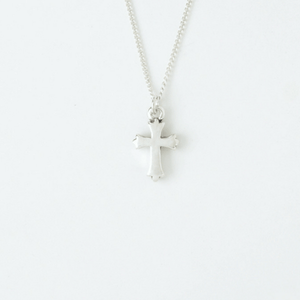 Sterling Silver Children's Cross Necklace | Fleur Cross  | Bob Siemon Designs
