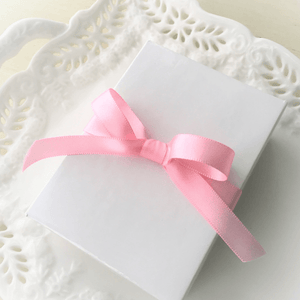 Children's Jewelry Gift Box with Pink Satin Ribbon