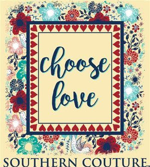 Southern Couture Christian Shirt | Choose Love | Comfort Colors