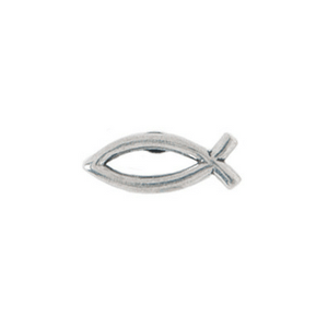 Fine Pewter Christian Lapel Pin | Open Ichthus Fish