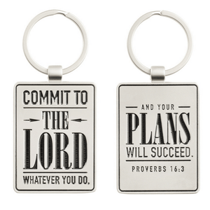 Scripture Verse Keychain | Commit to the Lord |  Proverbs 16:3