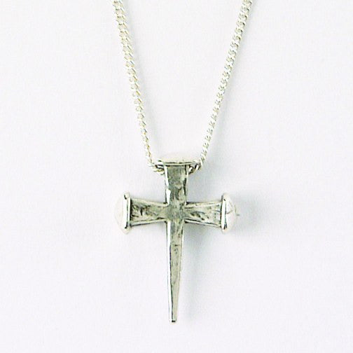 Sterling Silver Cross of Nails Necklace | Bob Siemon Designs