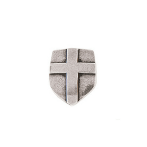 Fine Pewter Cross Shield Lapel Pin