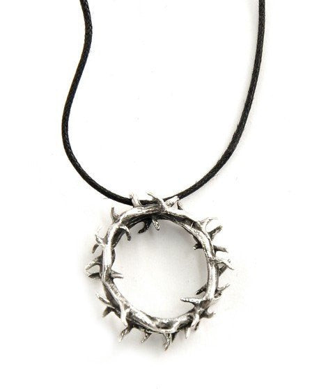Sterling Silver Crown of Thorns Pendant Necklace