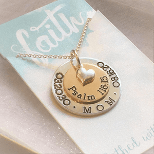 Custom Sterling Silver Personalized Necklace | Layered Pendants