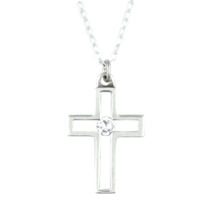 Handcrafted Sterling Silver Christian Necklace | Open Cross | Bob Siemon Designs