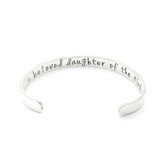 "I Am a Child of God | Sterling Silver Cuff Bracelet | 5"" Youth Size"
