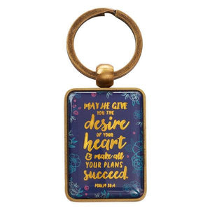 Scripture Verse Keychain | The Desire of Your Heart | Psalm 20:4
