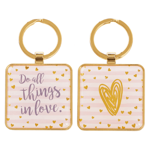 Do All Things In Love 1 Corinthians 16:14 Keychain