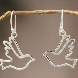 Handcrafted Sterling Silver Earrings | Doves of Peace