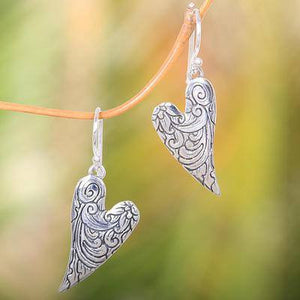 Handcrafted Sterling Silver Earrings | Dove Wings