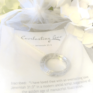 Everlasting Love Sterling Silver Mobius Twist Necklace | Jeremiah 31:3