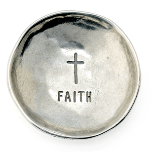 Fine Pewter Ring Dish | Faith Cross
