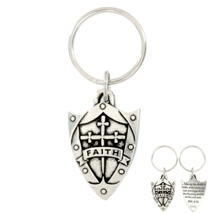 Faith Shield Ephesians 6:16 Keychain