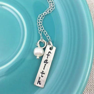 Faith of a Mustard Seed Fine Pewter Necklace | The Vintage Pearl