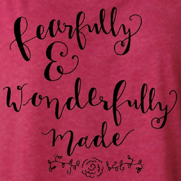 Fearfully & Wonderfully Made Christian T-Shirt | Captivated Tees