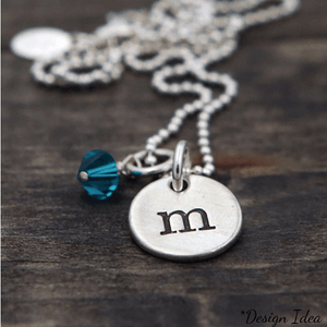 Fine Pewter Initial Charms | Alphabet Letter Disc Charm