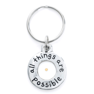 All Things are Possible Mustard Seed Faith Christian Keychain