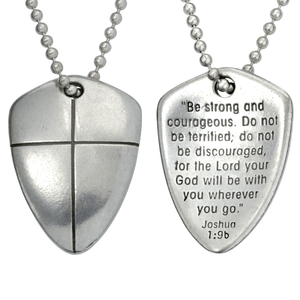 Shield of Faith Necklace | Joshua 1:9 | Be Strong and Courageous