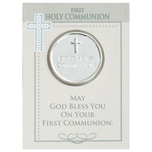 First Communion Pocket Token & Card Gift Set