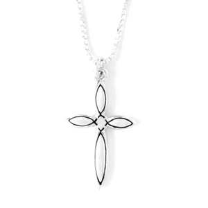 Handcrafted Sterling Silver Necklace | Christian Fish Cross | Bob Siemon Designs