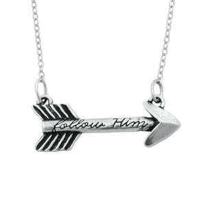Handcrafted Fine Pewter Arrow Necklace | Follow Him