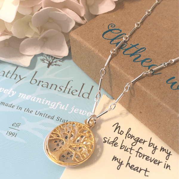 Forever in My Heart Sterling Silver Memorial Necklace | Kathy Bransfield