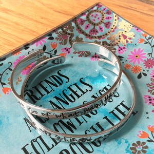 Natural Life Jewelry Trinket Dish | Friends Are Angels Following You Through Life