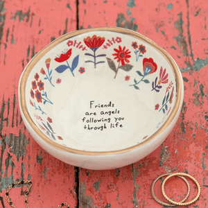Natural Life Friends Are Angels Ring Dish | Jewelry Trinket Bowl