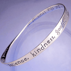 Fruit of the Spirit Mobius Bangle Bracelet | Galatians 5:22 | Sterling Silver or 14k Gold