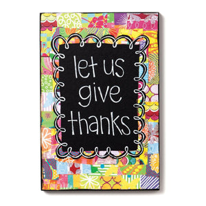 Let Us Give Thanks Wall Art | Colorful Devotions