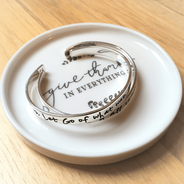 Give Thanks in Everything Jewelry Trinket Dish | 1 Thessalonians 5:18