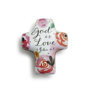 God is Love Artful Cross Pocket Token | 1 John 4:8