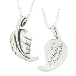 Sterling Silver Goodness Triumphs Necklace | Spring Leaf of Rebirth