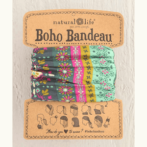 Green Stripe Print Boho Bandeau | Natural Life