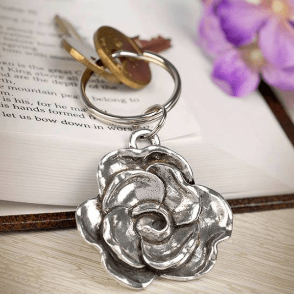 He Has Made Everything Beautiful Flower Keychain | Ecclesiastes 3:11