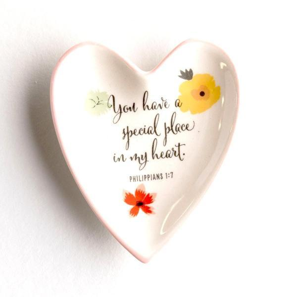 Ceramic Trinket Ring Dish | You Have a Special Place in My Heart | Philippians 1:7