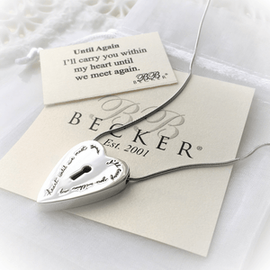 Sterling Silver I'll Carry You in My Heart Necklace | BB Becker