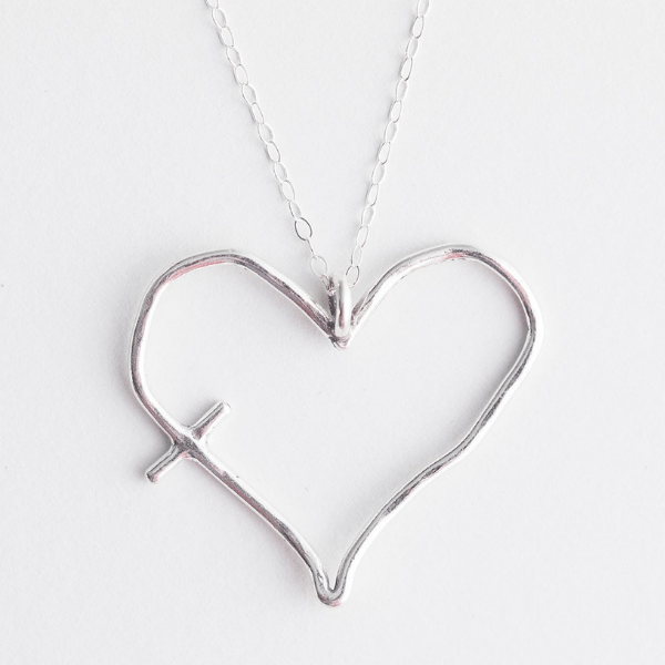 His Word in My Heart Sterling Silver or Bronze Necklace | The Vintage Pearl