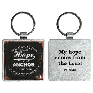 Hebrews 6:19 Anchor of Hope Keychain