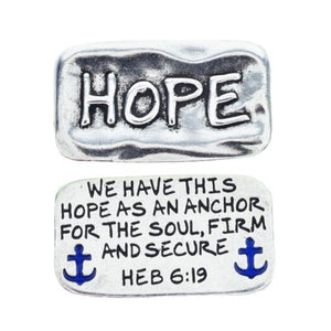 Fine Pewter Pocket Token | Hope As An Anchor| Hebrews 6:19