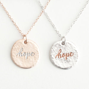 Hope (In) Courage Friendship Necklace Set | Wear One Share One | Hebrews 6:19