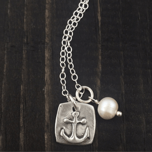 Hope in the Lord Anchor Fine Pewter Necklace | The Vintage Pearl