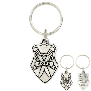 Shield of Hope Psalm 119:114 Keychain